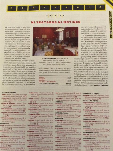Critica Metrópoli - El Mundo. 8 de Febrero 2013