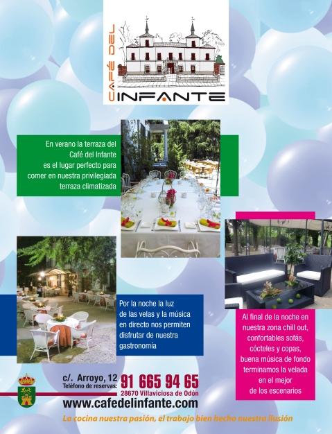 Cartel Terraza Café del Infante
