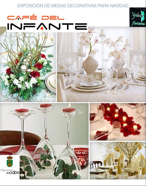 Exposici n mesas decoradas para navidad caf del infante for Mesas de navidad