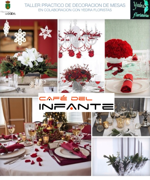 Jueves 19 de diciembre taller pr ctico de decoraci n de mesas caf del infante - Mesas de taller ...